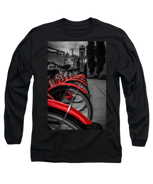 Red Bicycles Long Sleeve T-Shirt