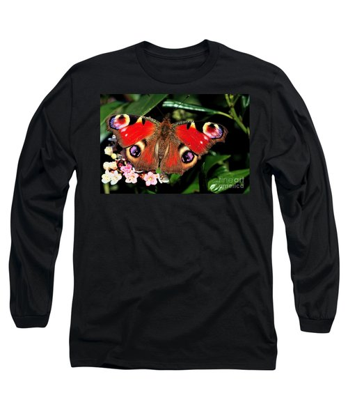 Red Butterfly In The Garden Long Sleeve T-Shirt