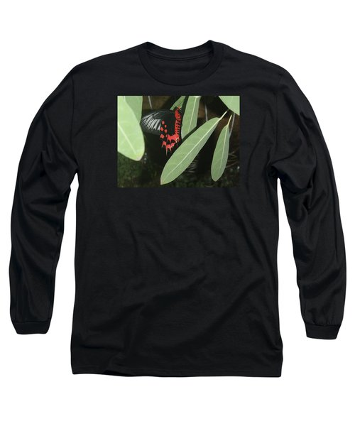Long Sleeve T-Shirt featuring the photograph Red Butterfly by Robert Nickologianis