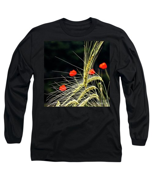 Red Corn Poppies Long Sleeve T-Shirt