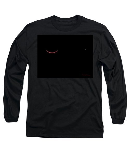 Red Crescent Moon And Venus Long Sleeve T-Shirt
