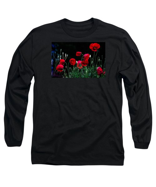 Long Sleeve T-Shirt featuring the photograph Red Dance by Edgar Laureano