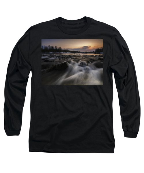 Red Dusk Long Sleeve T-Shirt by Davorin Mance