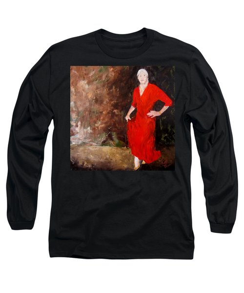 Long Sleeve T-Shirt featuring the painting Red Ellegance by Keith Thue