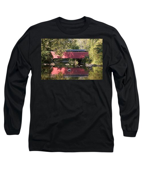 Red Fairhill Covered Bridge Two Long Sleeve T-Shirt