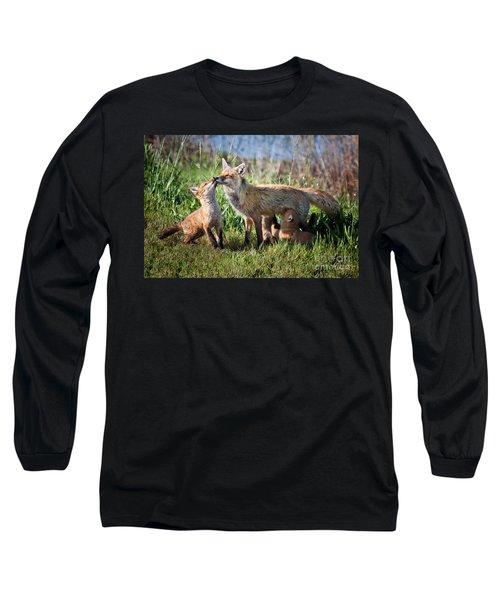 Red Fox Family Long Sleeve T-Shirt