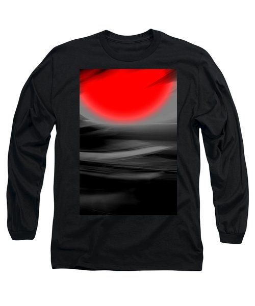 Long Sleeve T-Shirt featuring the mixed media Red Giant by Terence Morrissey