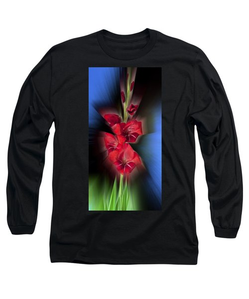 Long Sleeve T-Shirt featuring the photograph Red Gladiola by Mark Greenberg