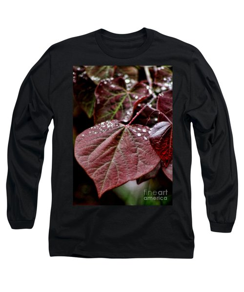 Red Heart Long Sleeve T-Shirt by Peggy Hughes