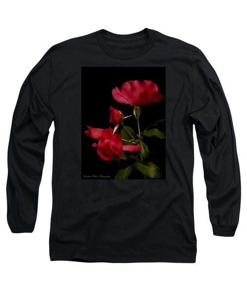 Long Sleeve T-Shirt featuring the photograph Red Is For Passion by Lucinda Walter
