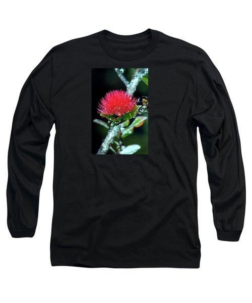 Red Lehua  Kawaiko'olihilihiokalikolehua Long Sleeve T-Shirt by Lehua Pekelo-Stearns