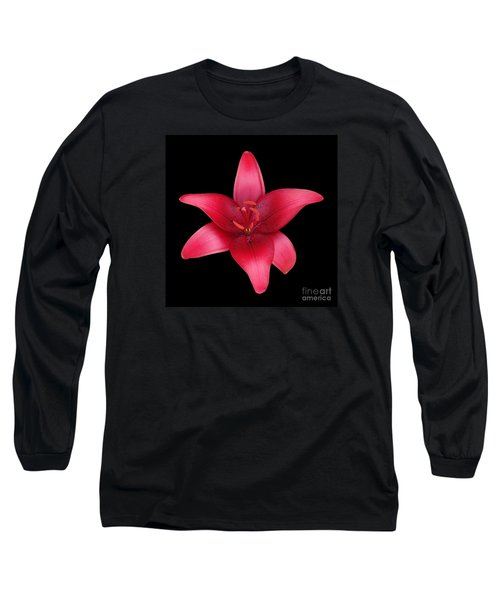 Long Sleeve T-Shirt featuring the photograph Red Lily by Judy Whitton