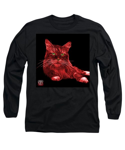 Red Maine Coon Cat - 3926 - Bb Long Sleeve T-Shirt