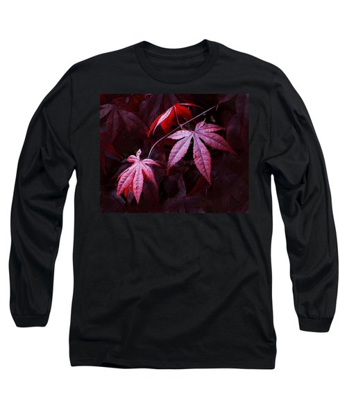 Red Maple Trio Long Sleeve T-Shirt