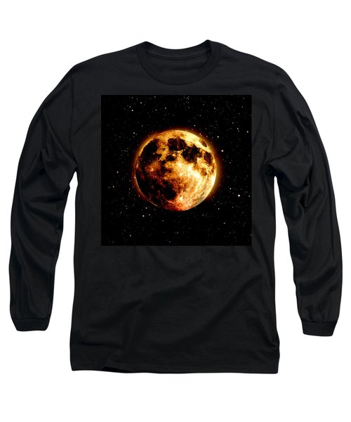 Red Moon Long Sleeve T-Shirt