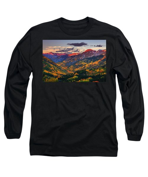 Red Mountain Pass Sunset Long Sleeve T-Shirt