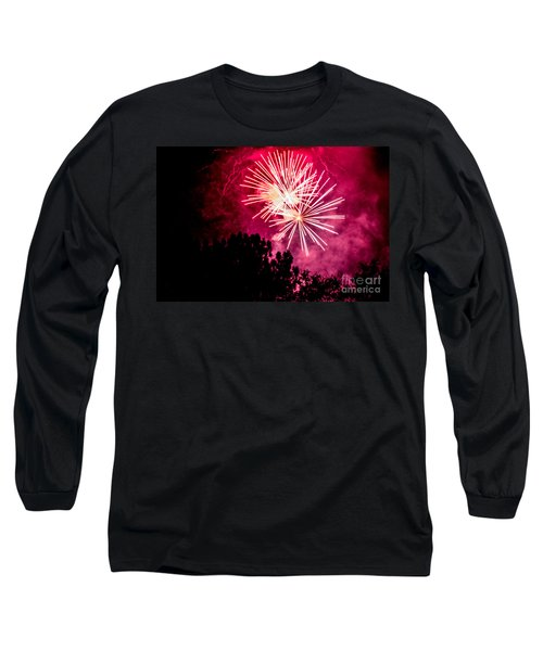 Long Sleeve T-Shirt featuring the photograph Red Night by Suzanne Luft