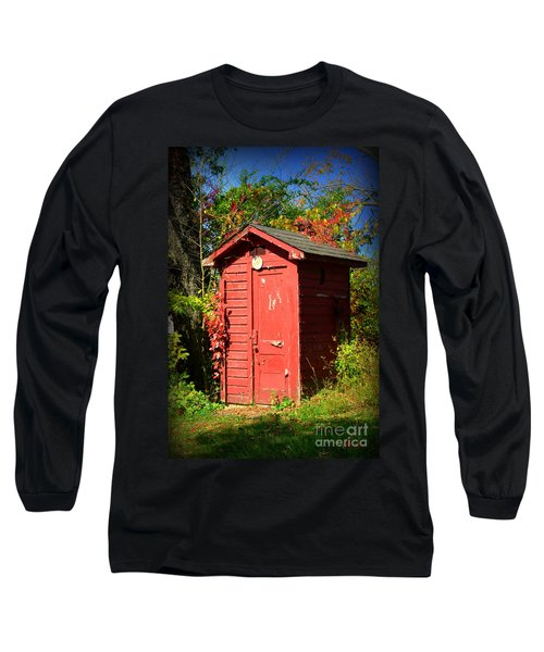 Red Outhouse Long Sleeve T-Shirt