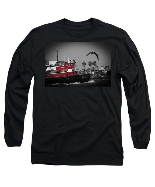 Red Pop Tugboat Long Sleeve T-Shirt