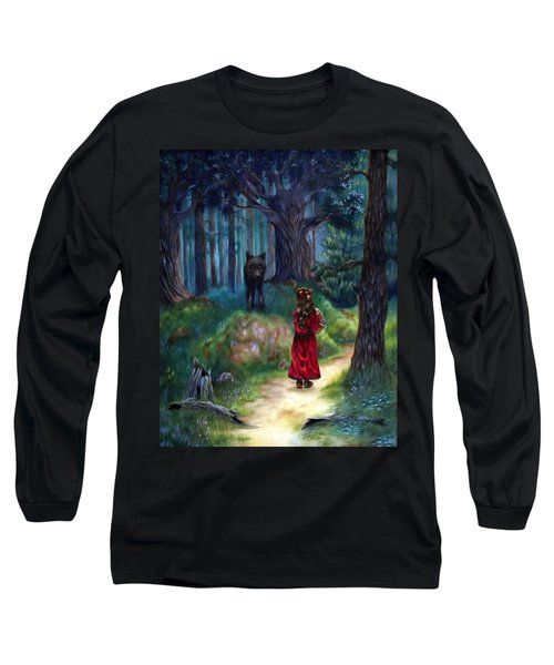 Long Sleeve T-Shirt featuring the painting Red Riding Hood by Heather Calderon