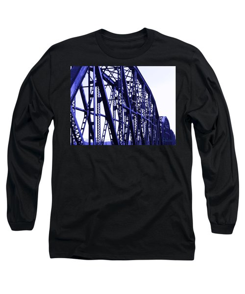 Long Sleeve T-Shirt featuring the photograph Red River Train Bridge #5 by Robert ONeil