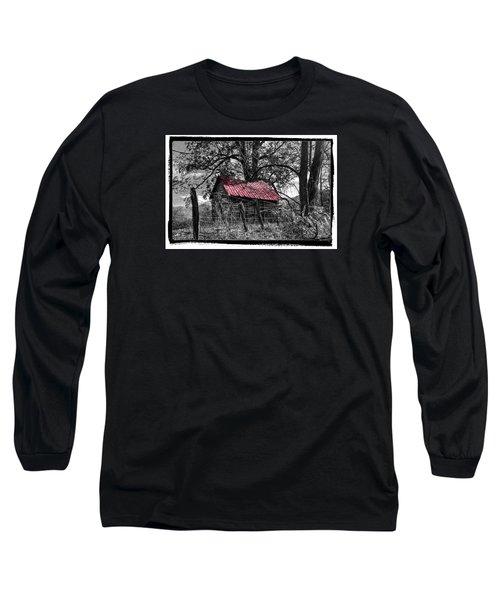 Red Roof Long Sleeve T-Shirt by Debra and Dave Vanderlaan