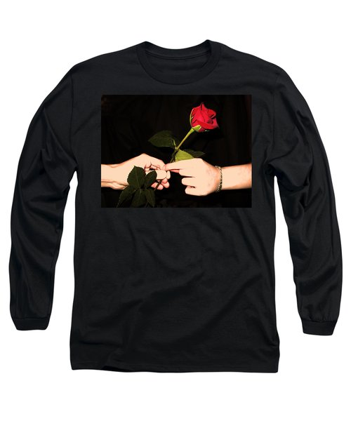 Red Rose By Jan Marvin Studios Long Sleeve T-Shirt