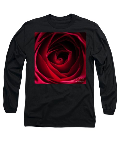 Red Rose Square Long Sleeve T-Shirt