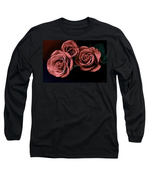 Red Roses Long Sleeve T-Shirt by Bonnie Willis