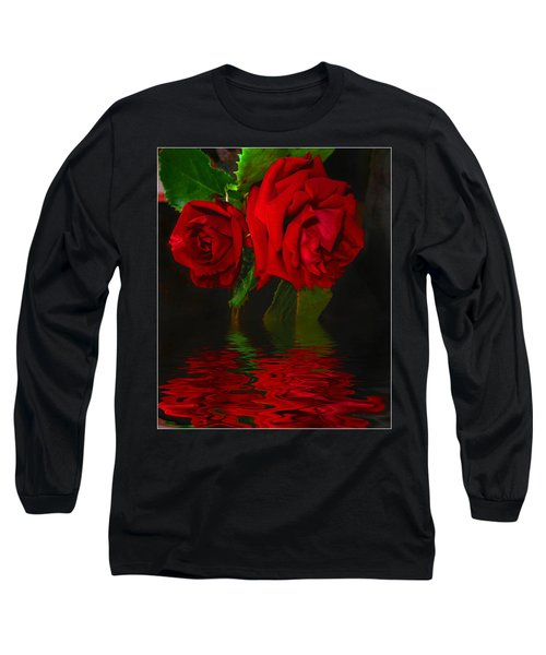 Red Roses Reflected Long Sleeve T-Shirt