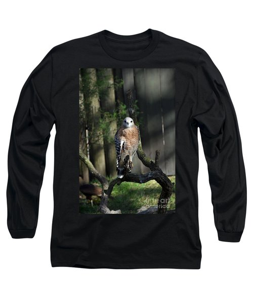 Long Sleeve T-Shirt featuring the photograph Red Shouldered-hawk by Robert Meanor