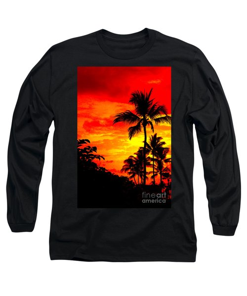 Long Sleeve T-Shirt featuring the photograph Red Sky At Night by David Lawson