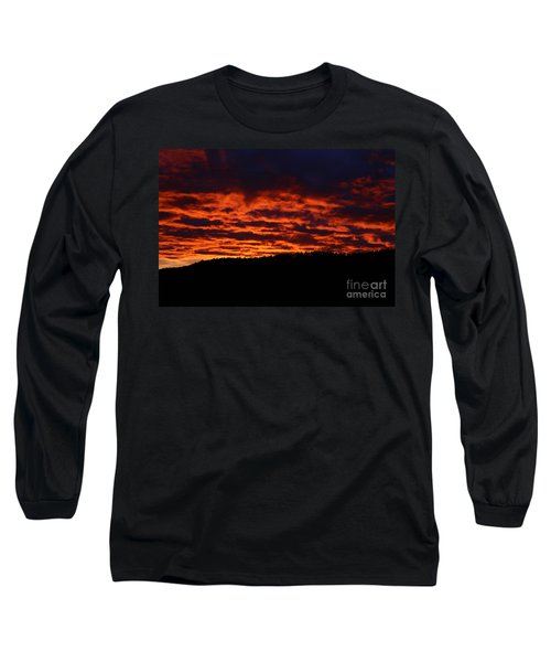 Long Sleeve T-Shirt featuring the photograph Red Sky In The Morning by Ann E Robson