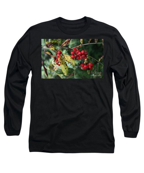 Long Sleeve T-Shirt featuring the photograph Red Summer Berries - Whistler by Amanda Holmes Tzafrir