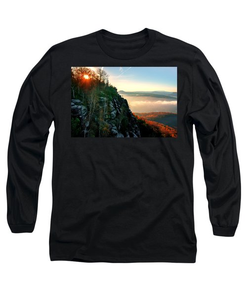 Red Sun Rays On The Lilienstein Long Sleeve T-Shirt