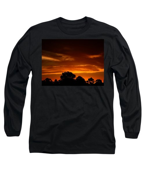 Red Sunset Long Sleeve T-Shirt