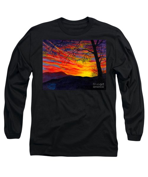 Red Sunset Long Sleeve T-Shirt