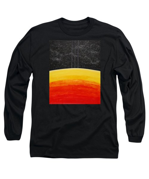 Red To Yellow Spacescape Long Sleeve T-Shirt