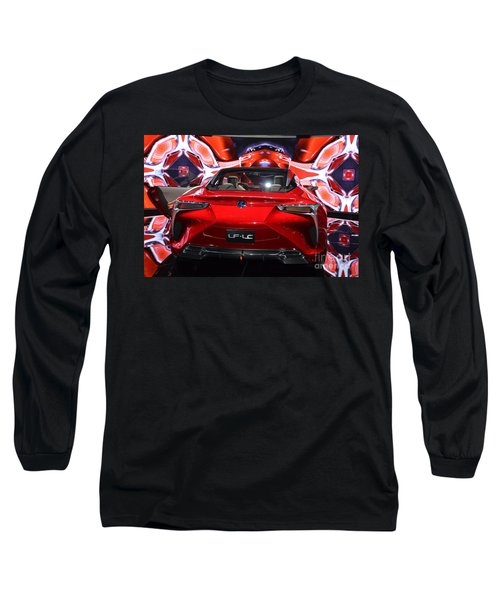Red Velocity Long Sleeve T-Shirt by Randy J Heath