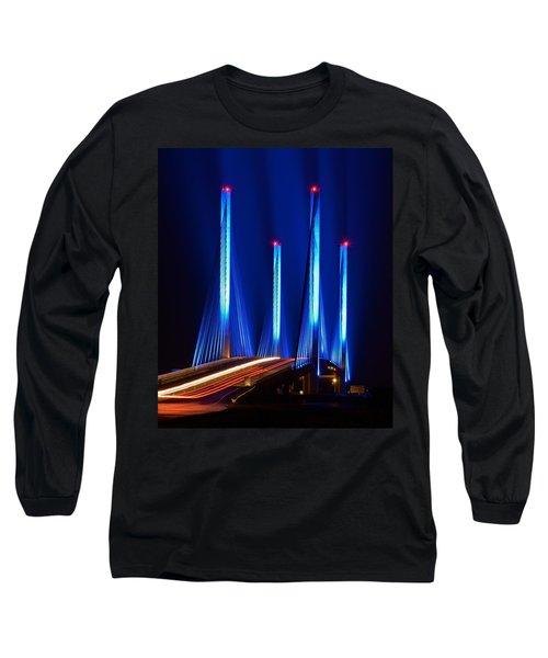 Indian River Inlet Bridge As Seen North Of Bethany Beach In This Award Winning Perspective Photo Long Sleeve T-Shirt