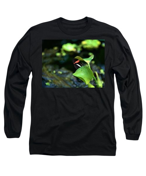 Red White Black Butterfly Long Sleeve T-Shirt