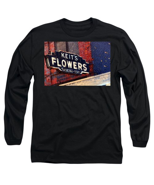 Red White Blue And Rusty Long Sleeve T-Shirt by Desiree Paquette