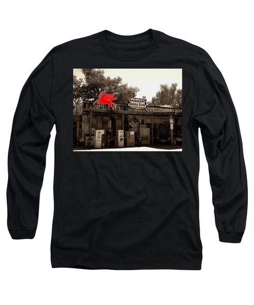 Red Winged Horse Long Sleeve T-Shirt