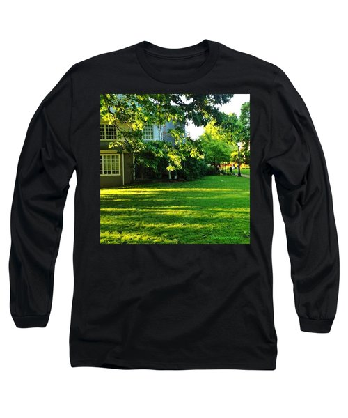 Reed College Campus Evening Light Long Sleeve T-Shirt by Anna Porter