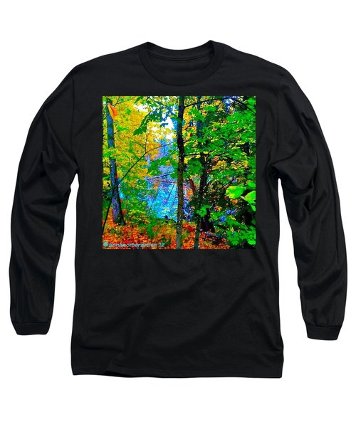 Reed College Canyon Reflections Of Autumn Long Sleeve T-Shirt by Anna Porter