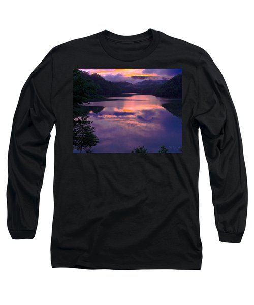 Reflected Sunset Long Sleeve T-Shirt by Tom Culver
