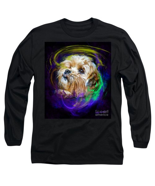 Long Sleeve T-Shirt featuring the digital art Reflecting On My Life by Kathy Tarochione