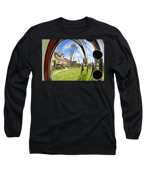 Long Sleeve T-Shirt featuring the pyrography Reflections Of A 1937 Cord by Shoal Hollingsworth
