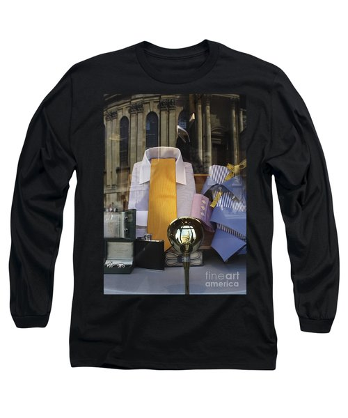 Long Sleeve T-Shirt featuring the photograph Reflections Of A Gentleman's Tailor by Terri Waters