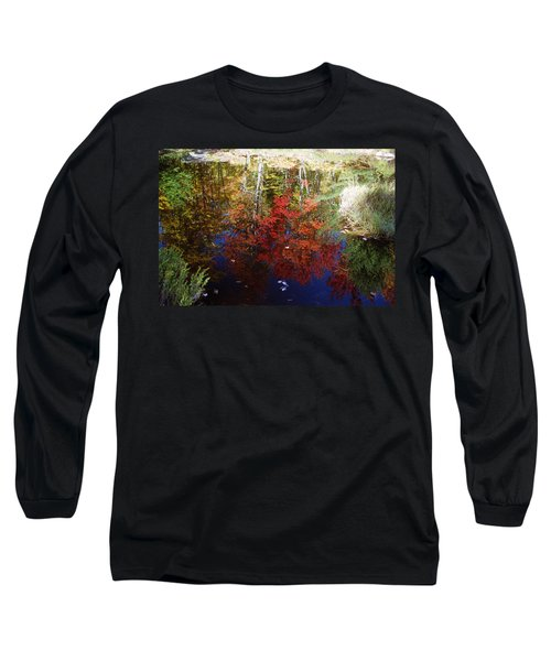 Long Sleeve T-Shirt featuring the photograph Reflections On Algonquin by David Porteus